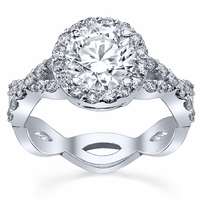 Pave Diamond Infinity Engagement Ring