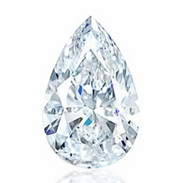 Charles and Colvard Pear Shape Forever One Moissanite - click to enlarge
