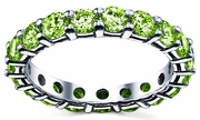 Peridot Wedding Band