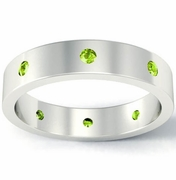 Peridot Flat Landmark Eternity Band