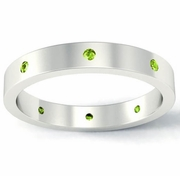 Peridot Flat Landmark Eternity Ring