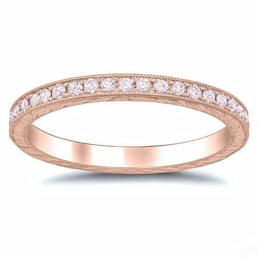 Pink diamond rose gold hand engraved eternity band pink diamond rose gold hand engraved eternity band click to enlarge junglespirit Choice Image