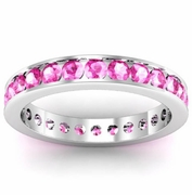 Pink Sapphire Eternity Ring in Channel Setting