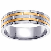 Platinum & 18kt Wedding Ring in 6.5 mm Comfort Fit