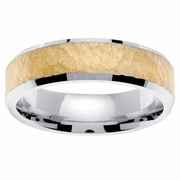 Platinum & 18kt Wedding Ring in 6 mm Comfort Fit
