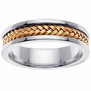 Platinum and Gold Ring in 6 mm Comfort Fit