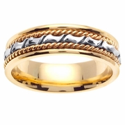 Platinum Gold Band in 6 mm Comfort Fit