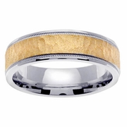 Platinum Gold Wedding Ring in 6 mm Comfort Fit