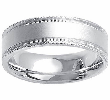 Platinum Ring for Men in 7mm Comfort Fit PT950 - click to enlarge