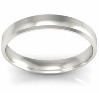Platinum Wedding Band Beveled 3mm