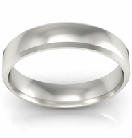 Platinum Wedding Band Beveled 4mm