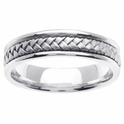 Platinum Wedding Band in 5.5mm Comfort Fit Mens or Ladies Handmade Wedding Ring