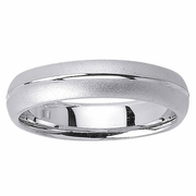 Platinum Wedding Band in 5mm Comfort Fit Mens or Ladies Fancy Wedding Ring