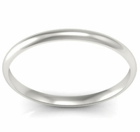 Platinum Wedding Ring Domed 2mm
