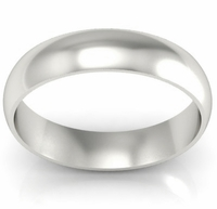 Platinum Wedding Ring Domed 5mm