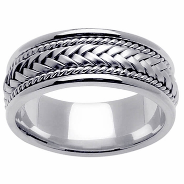 Platinum Wedding Ring In 8mm Comfort Fit Mens Or Las Band Click To Enlarge