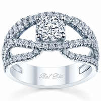 Preset Double Split Shank Engagement Ring