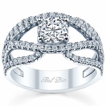 Preset Double Split Shank Engagement Ring - click to enlarge