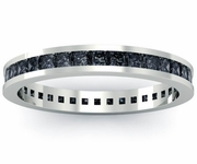 Princess Black Diamond Eternity Ring