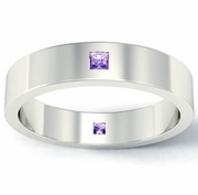 Princess Cut Amethyst Landmark Eternity