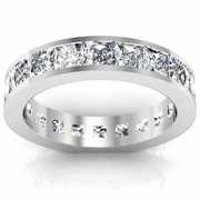 Princess Cut Channel Set Eternity Band 3.50 cttw