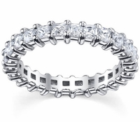 Princess-Cut Eternity Anniversary Ring