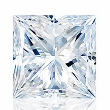 Charles and Colvard Princess Cut Forever One Moissanite - click to enlarge