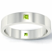 Princess Cut Peridot Landmark Eternity