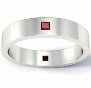 Princess Cut Ruby Landmark Eternity