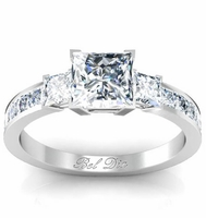Princess Cut Three Stone Ring Preset