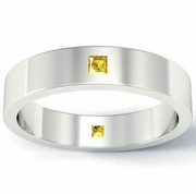 Princess Cut Yellow Sapphire Landmark Eternity