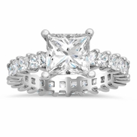 Princess Diamond Eternity Engagement Ring