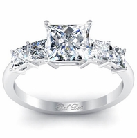 Princess Five Diamond Engagement Ring