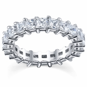 Prong-Set Princess Cut Diamonds Eternity Band
