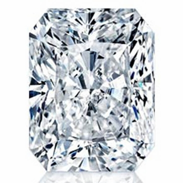 Charles and Colvard Radiant Forever One Moissanite - click to enlarge