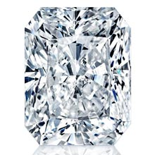 Charles and Colvard Radiant Forever One Moissanite