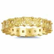 Radiant Yellow Diamond 18kt Gold Eternity Band