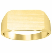 Rectangle Signet Ring 14k