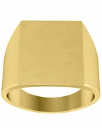 Rectangular Mens Signet Ring