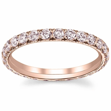 Rose Gold Pink Diamond Eternity Ring - click to enlarge