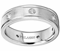 Round Brilliant Diamonds Men's Palladium Wedding Band