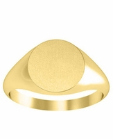 Round Center Womens Signet Ring