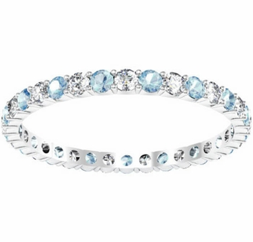 band and diamond aquamarine bands birthstone eternity