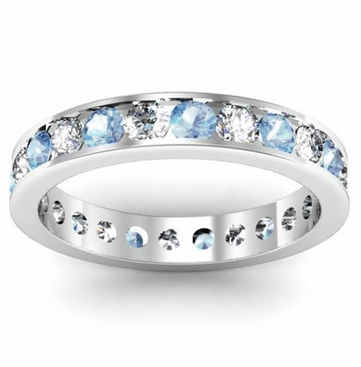 band bands jewelers s friedman aquamarine eternity sterling simulated product