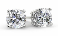Round Diamond Earrings for Women