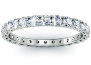 Round Diamond Four Prong Eternity Ring