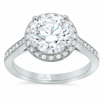 Round Engagement Ring with Halo - click to enlarge