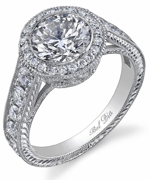 Round Halo Diamond Ring 1.00 cttw - click to enlarge