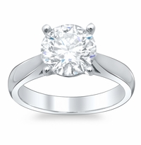 Round Open Tapered Solitaire Engagement Ring 2.7mm