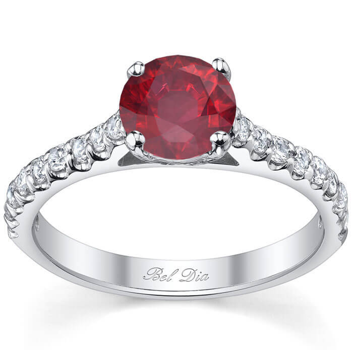accent s brilliant symphony accents engagement rings jessica simpson for of charming ruby diamond ring